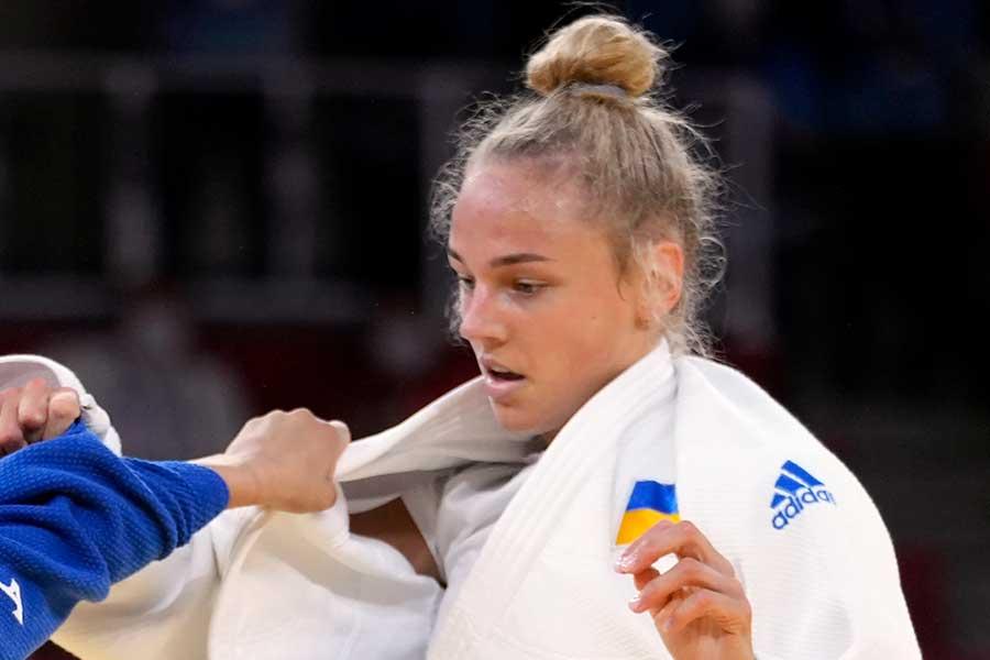 柔道女子48キロ級で銅メダルを獲得したダリア・ビロディド【写真:AP】
