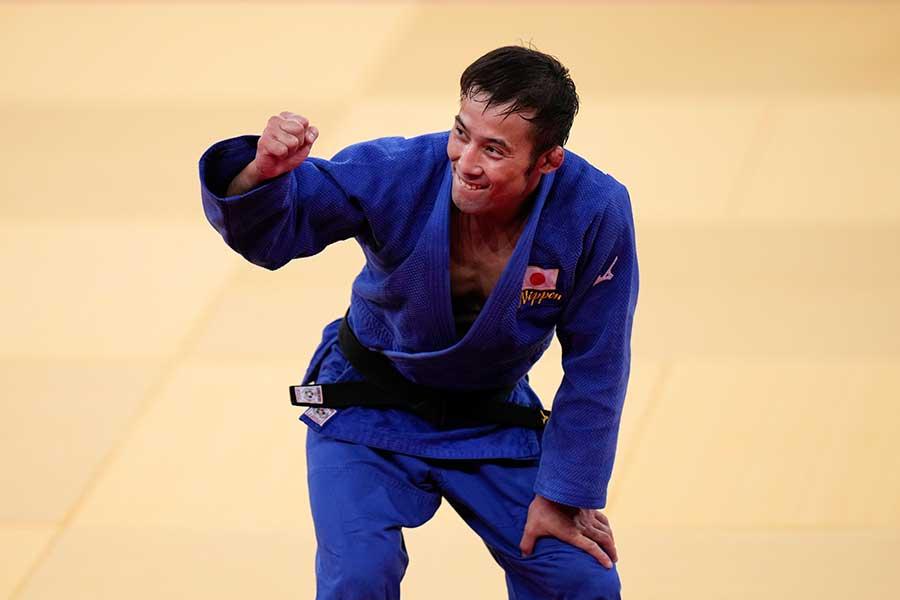 柔道の男子60キロ級で金メダルを獲得した高藤直寿【写真:AP】