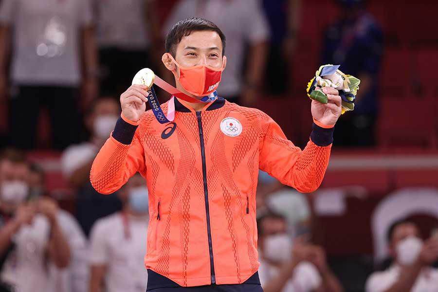 今大会の日本勢初金メダルを獲得した高藤直寿【写真:Getty Images】