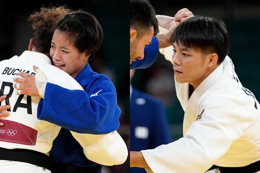 柔道五輪史上初の兄妹同日金メダルを獲得した阿部一二三(右)と妹の詩【写真:AP】