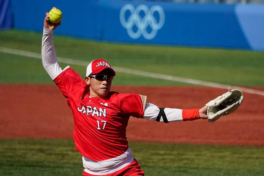 ソフトボール日本代表の上野由岐子【写真:AP】