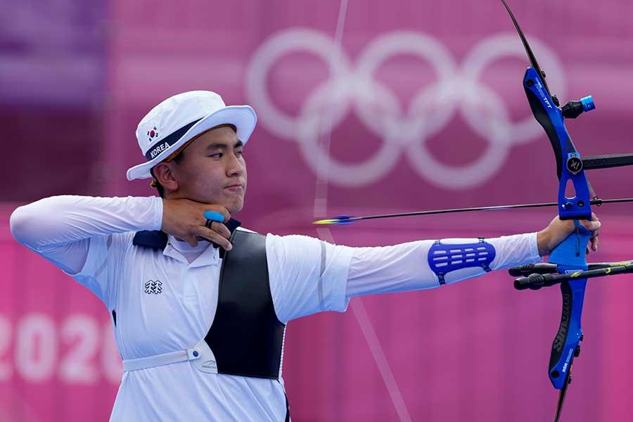 アーチェリー男子団体で韓国が金メダルを獲得した【写真:AP】