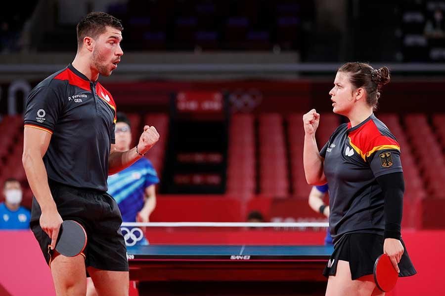 卓球ドイツ代表コーチのウェアに注目が集まっている【写真:Getty Images】