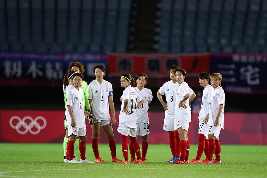 チリと対戦し、今大会初勝利を挙げたなでしこジャパン【写真:Getty Images】