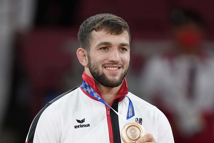 柔道男子81kg級で銅メダルを獲得したシャミル・ボルハシュヒリ【写真:AP】