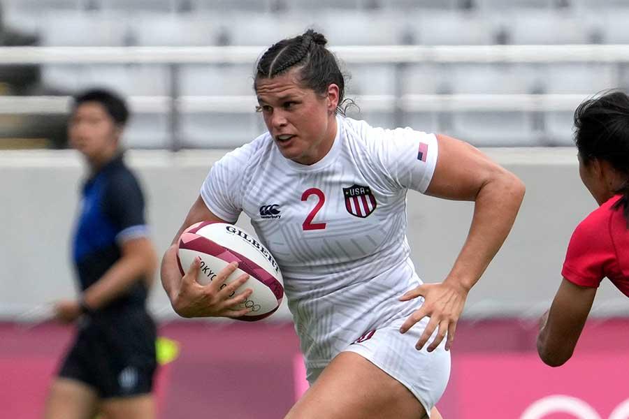 女子7人制ラグビー、アメリカ代表のイローナ・マー【写真:AP】