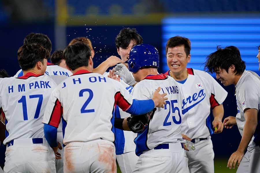 韓国がイスラエルにサヨナラ勝ち【写真:AP】