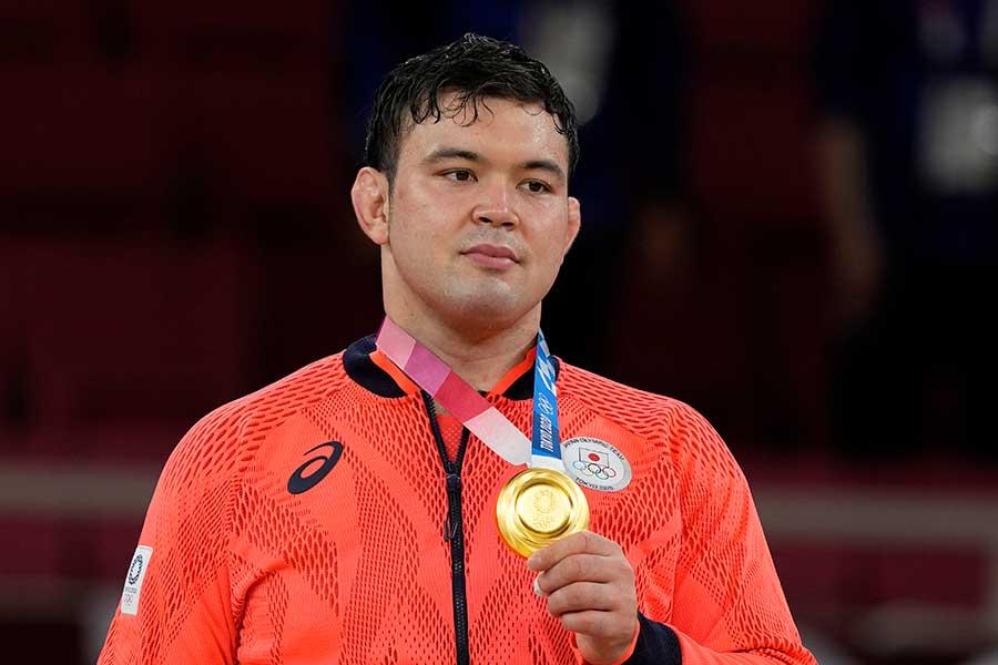 金メダルを獲得したウルフ・アロン【写真:AP】