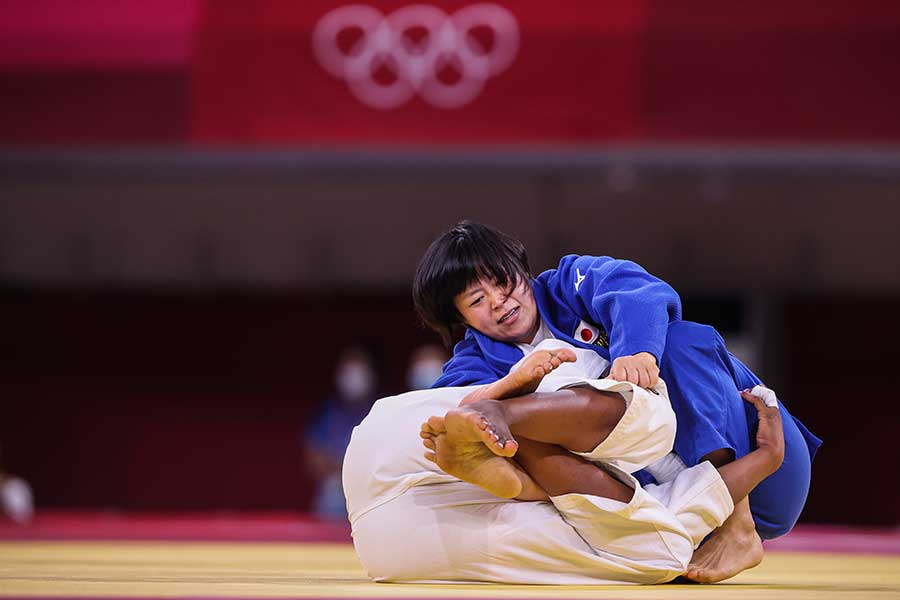 柔道女子78キロ級で金メダルを獲得した浜田尚里【写真:Getty Images】
