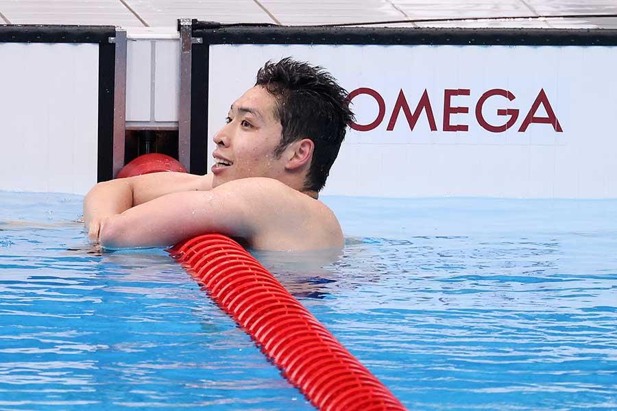 男子200メートル個人メドレーで惜しくもメダルを逃した萩野公介【写真:Getty Images】