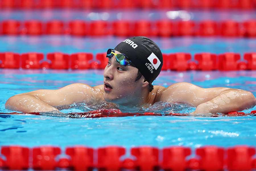 男子200メートル個人メドレーで惜しくもメダルを逃した瀬戸大也【写真:Getty Images】