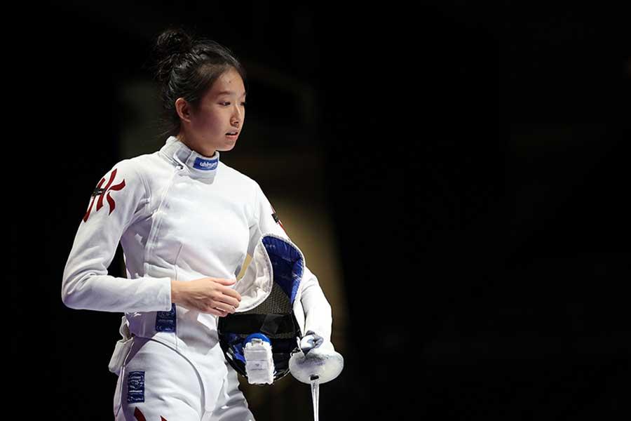 フェンシング女子香港代表の江旻ケイ【写真:Getty Images】