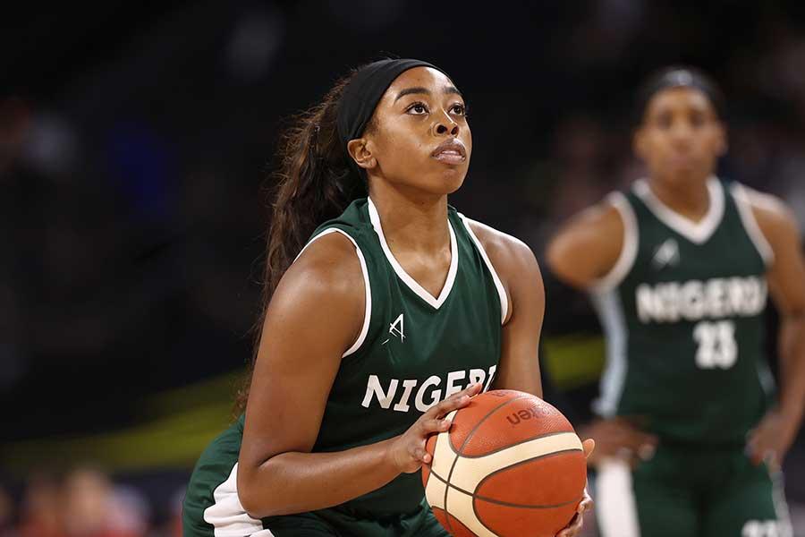 バスケットボール女子、ナイジェリア代表のエリンマ・オグミケ【写真:Getty Images】