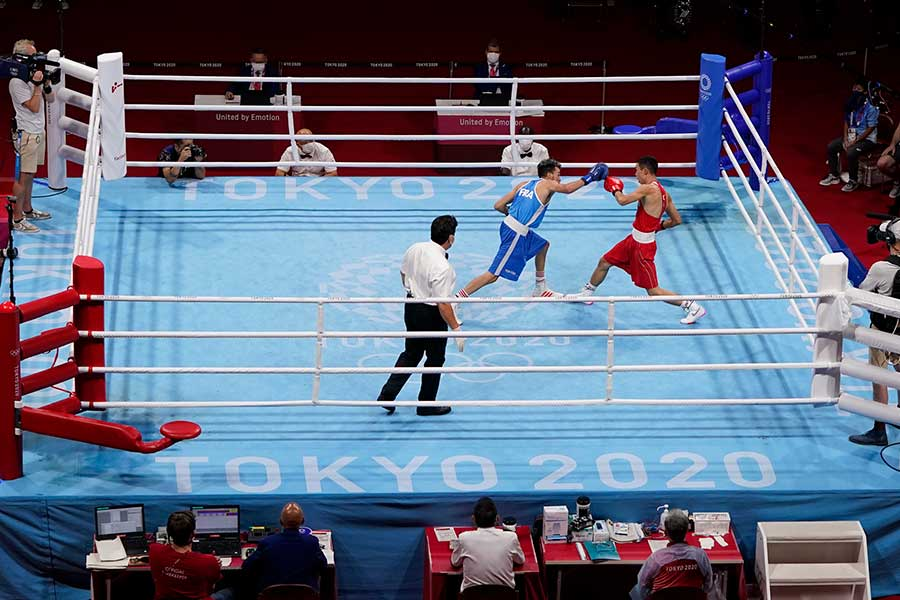 両国国技館で行われるボクシングで生まれた光景に海外記者が注目している【写真:AP】