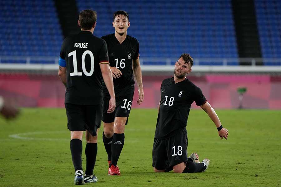 サッカー男子ドイツ代表の選手たち【写真:AP】
