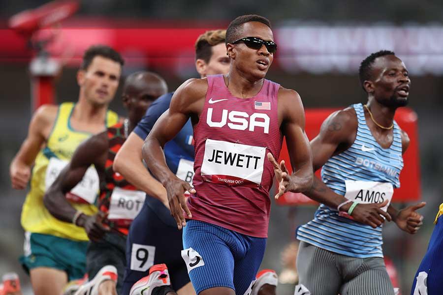 男子800メートルの準決勝に出場したアイザイア・ジュエット【写真:Getty Images】