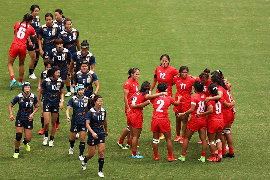 7月30日、中国に敗れた7人制ラグビー女子日本代表【写真:Getty Images】