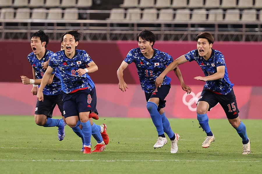 サッカー男子・日本代表は準決勝でスペインと対戦する【写真:Getty Images】