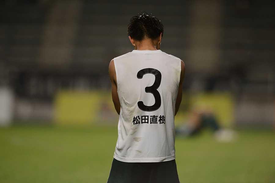 今も松田直樹さんへの想いを込めたアンダーシャツを着て戦っている田中隼磨【写真:松本山雅FC】