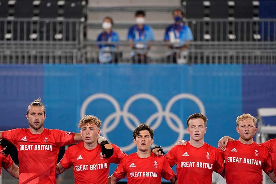 ホッケー英国代表の選手たち【写真:AP】