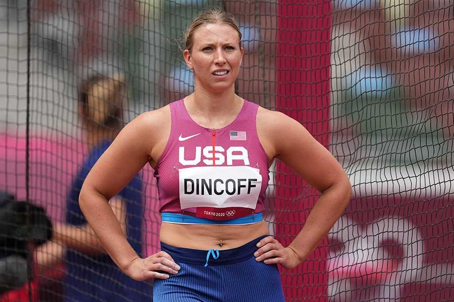 アメリカ円盤投げ女子代表のレイチェル・ディンコフ【写真:AP】
