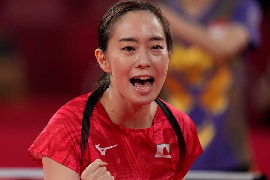 卓球女子の日本代表、石川佳純【写真:Getty Images】