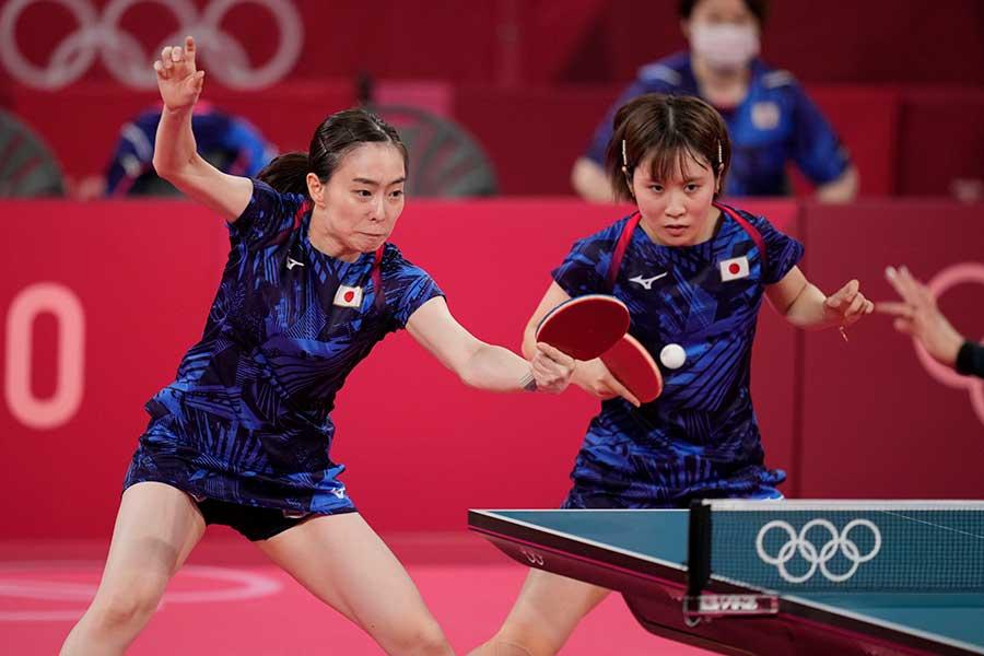 卓球女子団体、日本代表は決勝で中国と激突する【写真:AP】