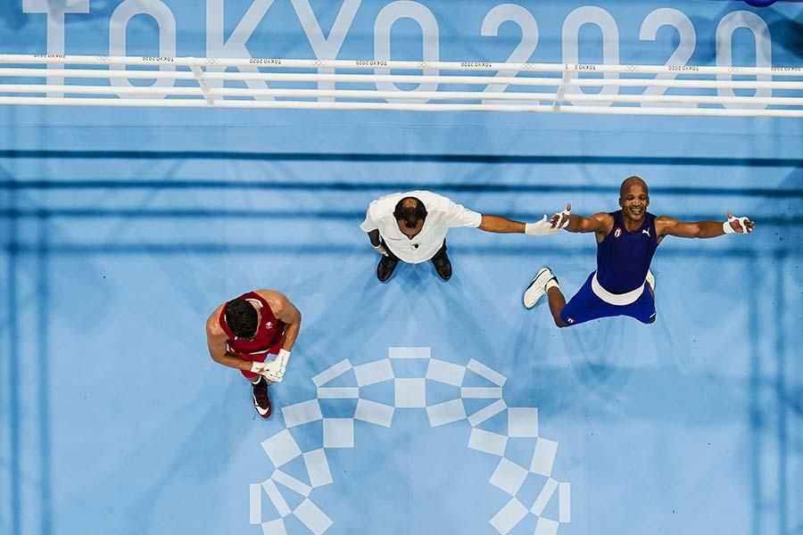 ボクシング会場の両国国技館に海外記者が注目している【写真:AP】