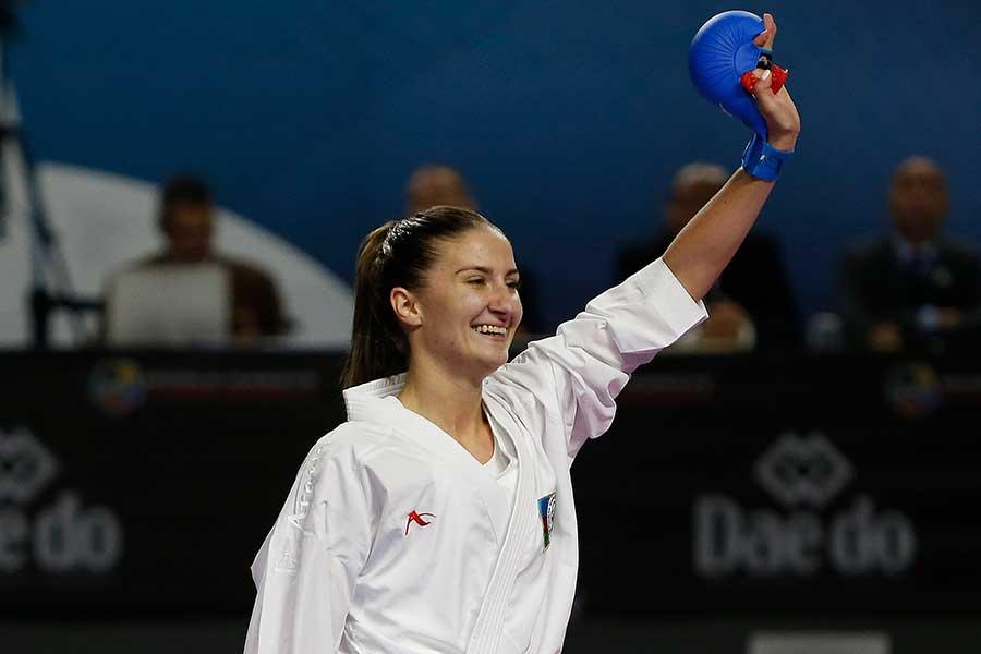 アゼルバイジャン代表のイリーナ・ザレツカ【写真:Getty Images】