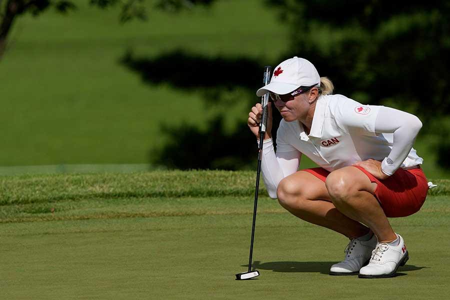 ゴルフ、カナダ代表のアリーナ・シャープ【写真:AP】