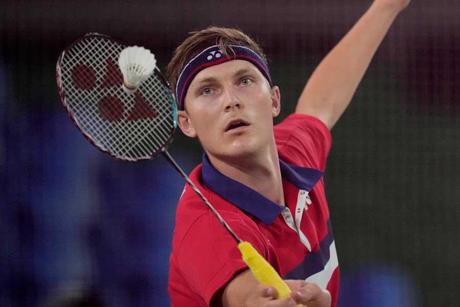 バドミントン男子シングルスで金メダルを獲得したビクトル・アクセルセン【写真:AP】