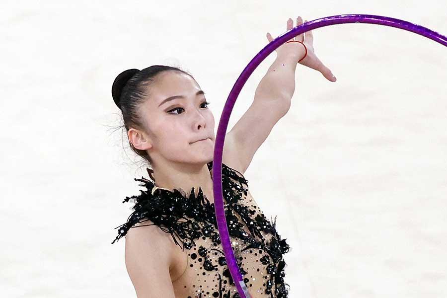 新体操女子の喜田純鈴【写真:Getty Images】