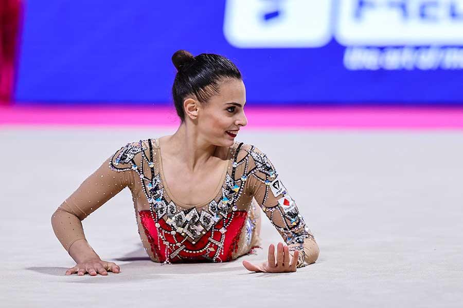 新体操、イスラエル代表のリノイ・アシュラム【写真:Getty Images】