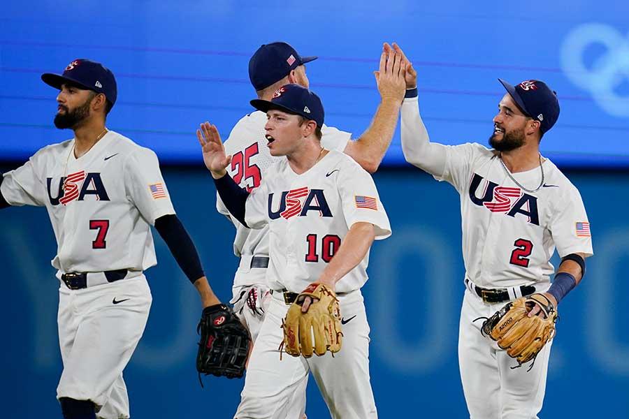 今日、日本と決勝を戦う米国代表へ粋なエールが届いた【写真:AP】