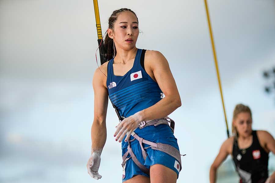 スポーツクライミングの女子複合で銅メダルを獲得した野口啓代【写真:Getty Images】