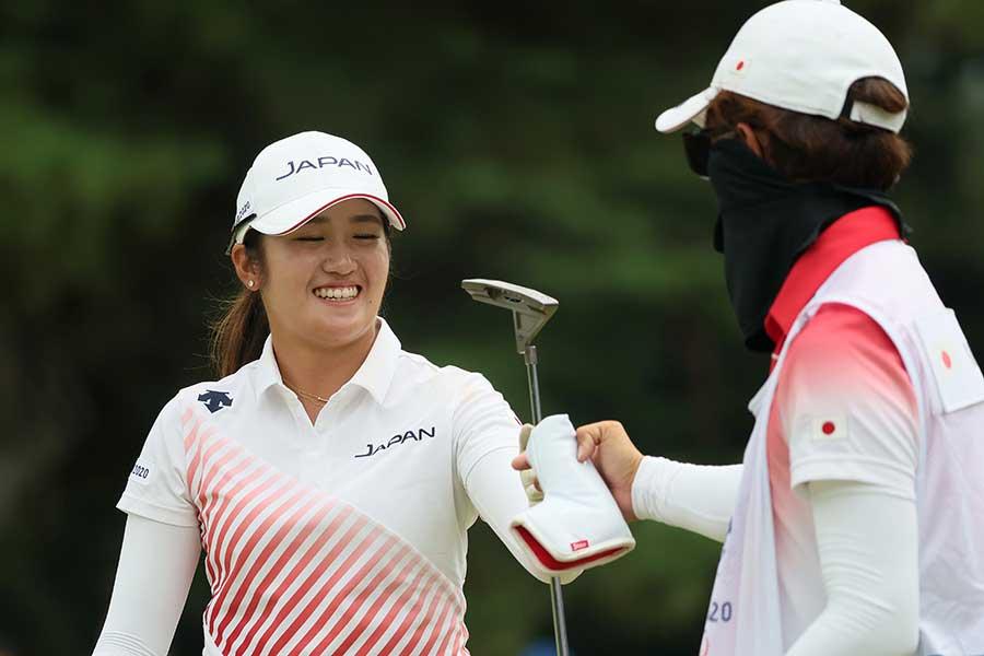 東京五輪女子ゴルフでメダル獲得が確定した稲見萌寧【写真:Getty Images】