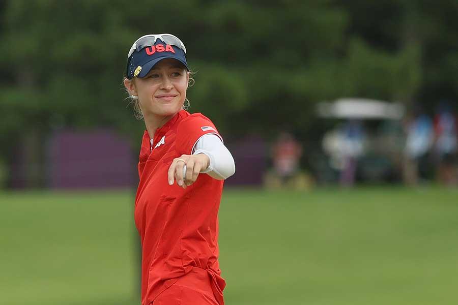 女子ゴルフで金メダルに輝いたネリー・コルダ【写真:Getty Images】
