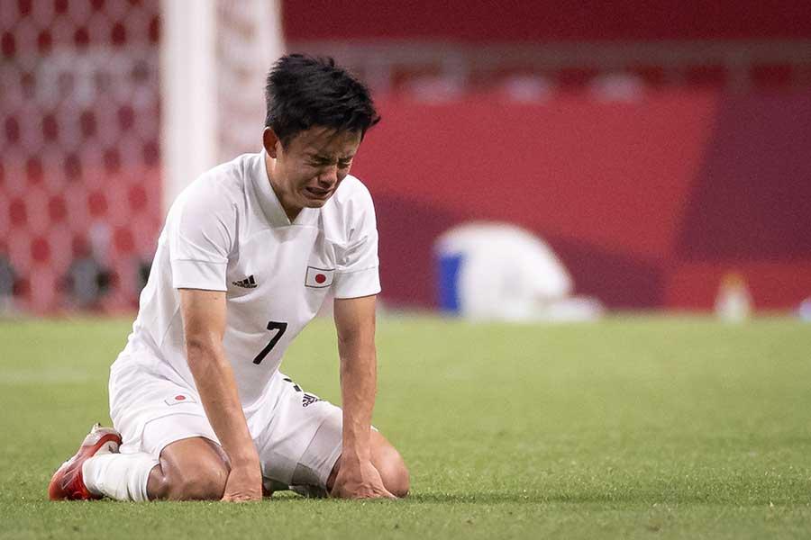 3位決定戦でメキシコに敗れ、号泣する久保建英【写真:Getty Images】