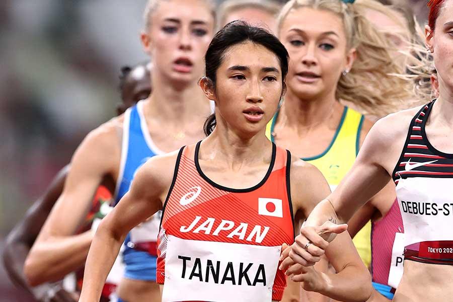 陸上・女子1500メートルで日本勢初となる入賞を果たした田中希実【写真:Getty Images】