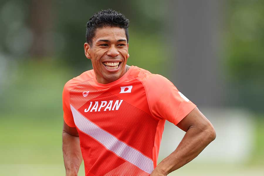 陸上男子400メートルリレーのデーデー・ブルーノ【写真:YUTAKA/アフロスポーツ】