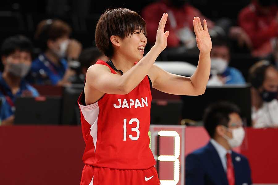 日本の司令塔として、銀メダル獲得に貢献した町田瑠唯【写真:Getty Images】