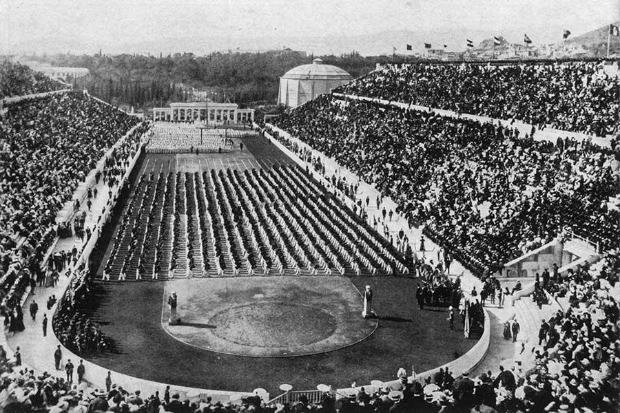 1800年代のアテネ・オリンピックスタジアム【写真:Getty Images】