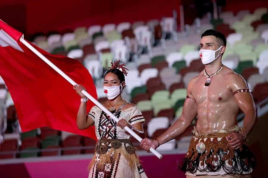 トンガ代表のピタ・タウファトファ【写真:Getty Images】