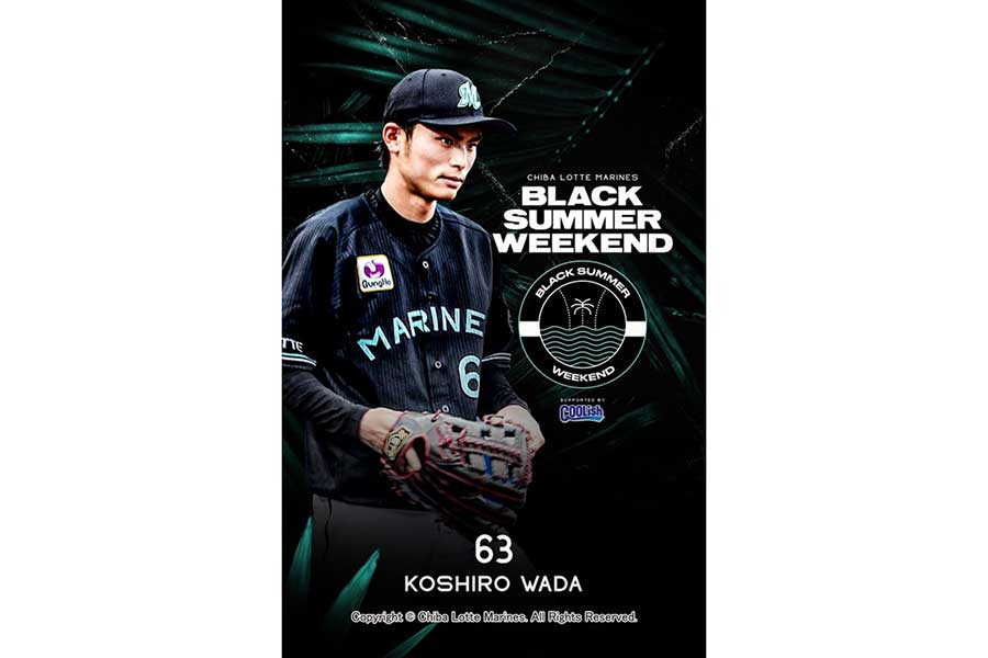 和田康士朗のベースボールカード【写真:球団提供】