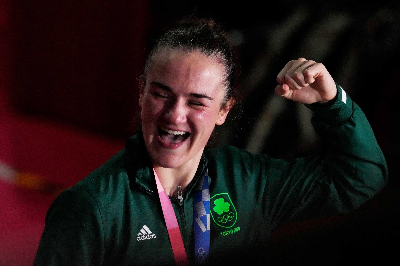 ボクシング女子ライト級で金メダルを獲得したケリー・ハリントン【写真:AP】