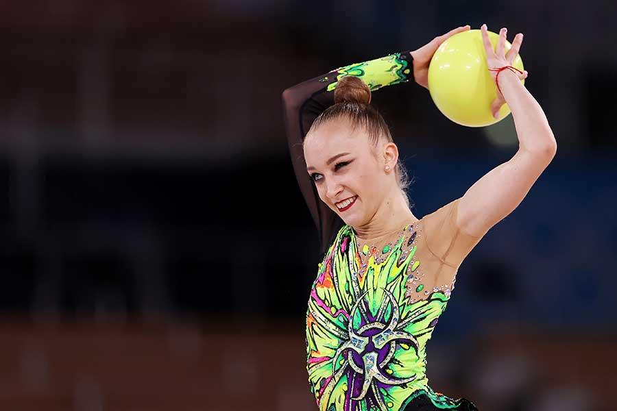 新体操のウクライナ代表フリスティナ・ポフラニチナ【写真:Getty Images】