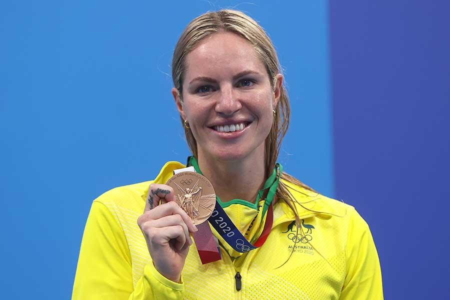 競泳女子でメダルを2個獲得したエミリー・シーボーム【写真:Getty Images】