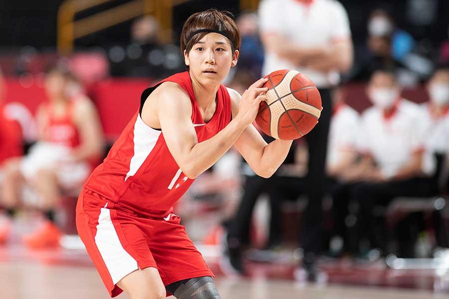 バスケットボール女子で銀メダルを獲得し、ベスト5に選ばれた町田瑠唯【写真:Getty Images】