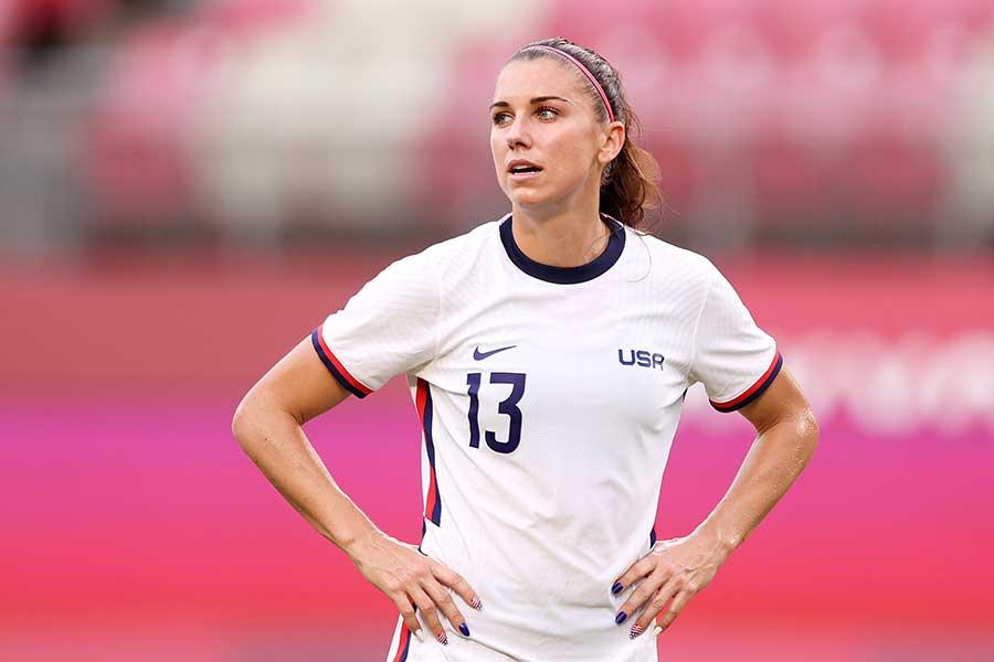 サッカー、女子米国代表のアレックス・モーガン【写真:Getty Images】