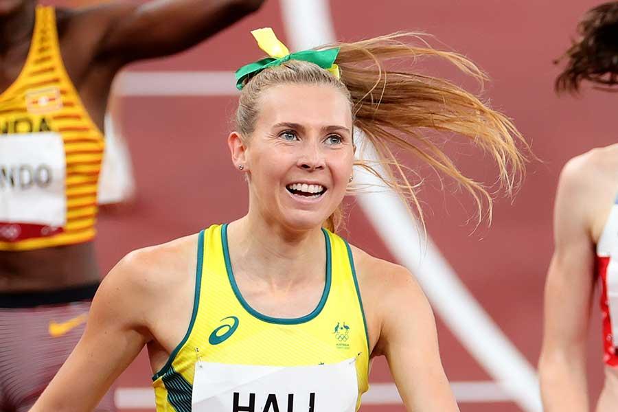 陸上女子1500メートルで6位入賞したリンデン・ホール【写真:Getty Images】